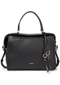 Dkny Woman Marcy Medium Pebbled-leather Tote Black