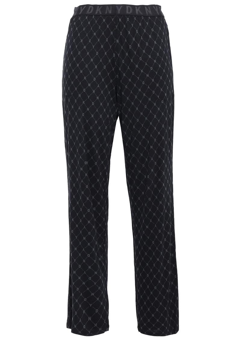 Dkny Woman Printed Jersey Pajama Pants Black