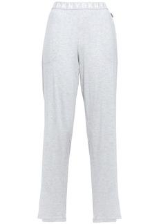 Dkny Woman Mélange Stretch-jersey Pajama Pants Light Gray