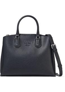Dkny Woman Noho Large Pebbled-leather Shoulder Bag Black