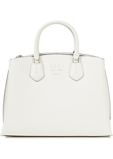 Dkny Woman Noho Large Pebbled-leather Tote Off-white
