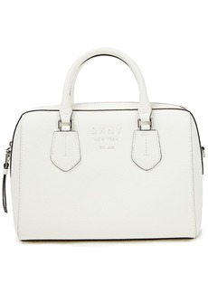 Dkny Woman Noho Pebbled-leather Tote White