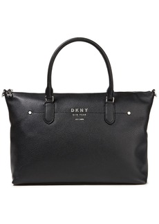 Dkny Woman Pebbled-leather Tote Black