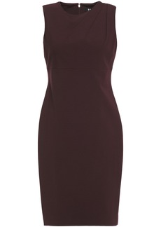 Dkny Woman Pleated Ponte Dress Burgundy
