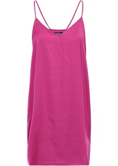 Dkny Woman Printed Crepe De Chine Chemise Fuchsia
