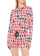 Dkny Woman Printed Fleece Pajama Shorts Black