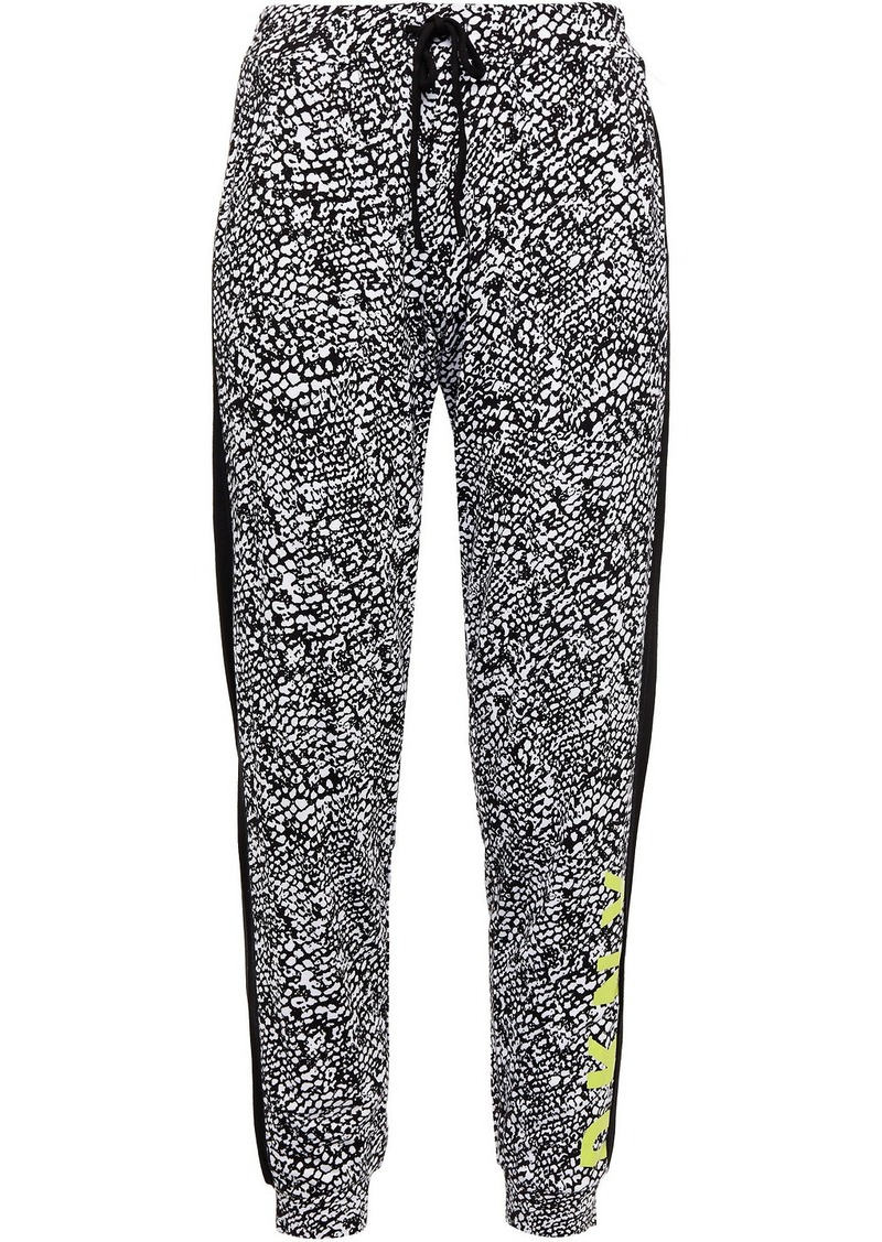 Dkny Woman Printed Jersey Pajama Pants Black