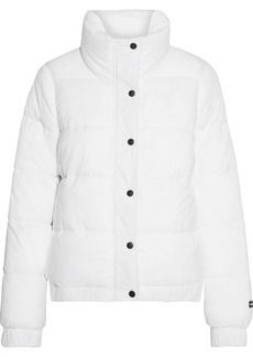 Dkny Woman Printed Quilted Shell Jacket White