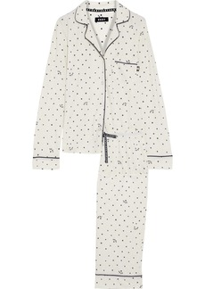 Dkny Woman Printed Stretch-jersey Pajama Set Ivory