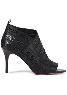 Dkny Woman Printed Stretch-knit Ankle Boots Black