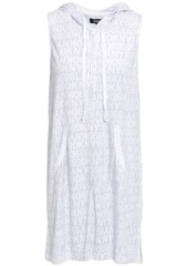 Dkny Woman Printed Terry Hooded Nightdress Light Gray