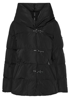 Dkny Woman Quilted Shell Hooded Coat Black