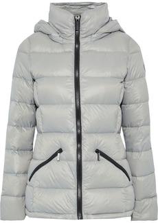 Dkny Woman Quilted Shell Hooded Down Jacket Stone