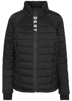 Dkny Woman Quilted Shell Jacket Black