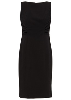 Dkny Woman Ruched Stretch-crepe Dress Black