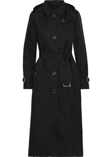 Dkny Woman Shell Hooded Trench Coat Black