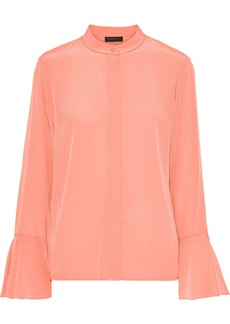 Dkny Woman Silk Crepe De Chine Blouse Peach