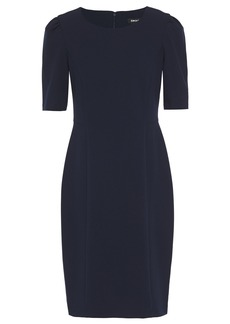 Dkny Woman Stretch-crepe Dress Navy