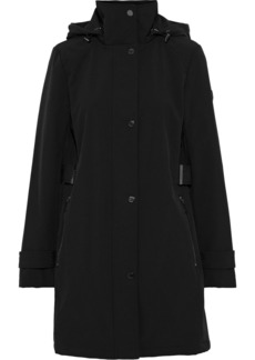 Dkny Woman Stretch-shell Hooded Jacket Black