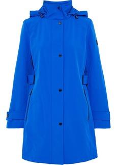 Dkny Woman Stretch-shell Hooded Jacket Cobalt Blue