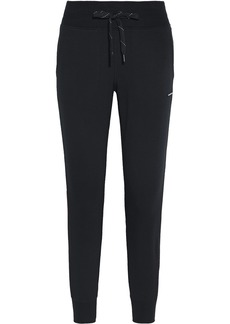 Dkny Woman Striped French Terry Track Pants Black