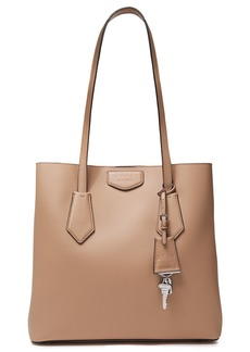 Dkny Woman Sullivan Large Textured-leather Tote Light Brown