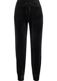 Dkny Woman Velour Track Pants Black