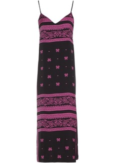 Dkny Woman Vintage Fresh Printed Crepe De Chine Nightdress Black