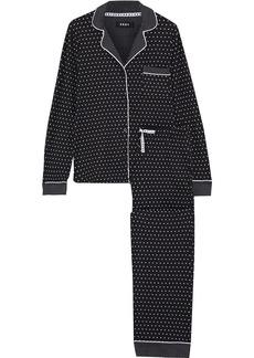 Dkny Woman Wishlist Printed Stretch-jersey Pajama Set Black