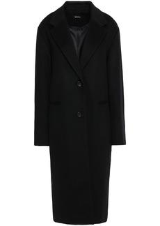 Dkny Woman Wool-blend Felt Coat Black