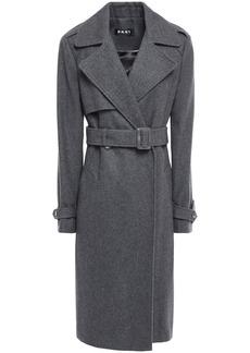 Dkny Woman Wool-blend Felt Trench Coat Charcoal