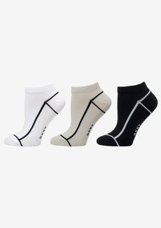 Dkny Women's 3-Pk. Outlined Low-Cut Socks