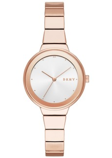 Dkny Women's Astoria Rose Gold-Tone Bracelet Watch 32mm, Created for Macy's