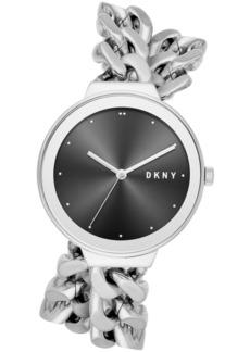 Dkny Women's Astoria Stainless Steel Double Wrap Chain Bracelet Watch 38mm, Created for Macy's