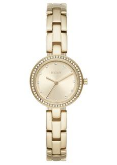 Dkny Women's City Link Gold-Tone Stainless Steel Bracelet Watch 26mm