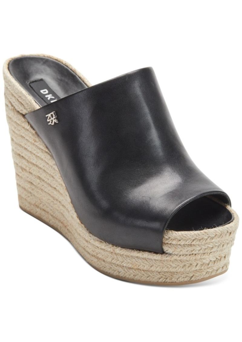 Dkny Women's Eari Wedge Slide Sandals