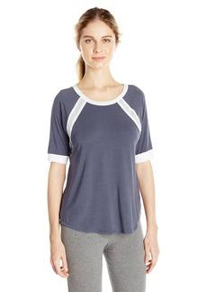 DKNY Women's Elbow Length Sleeve Lounge Top  Gray M