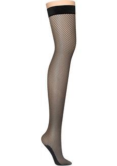 DKNY Women's Fishnet Thigh High Hosiery black M/T