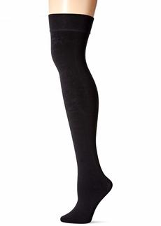 DKNY Women's Fleece Over-The-Knee Tight black