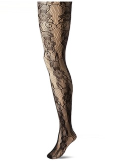 DKNY Women's Floral Lace Net Tights