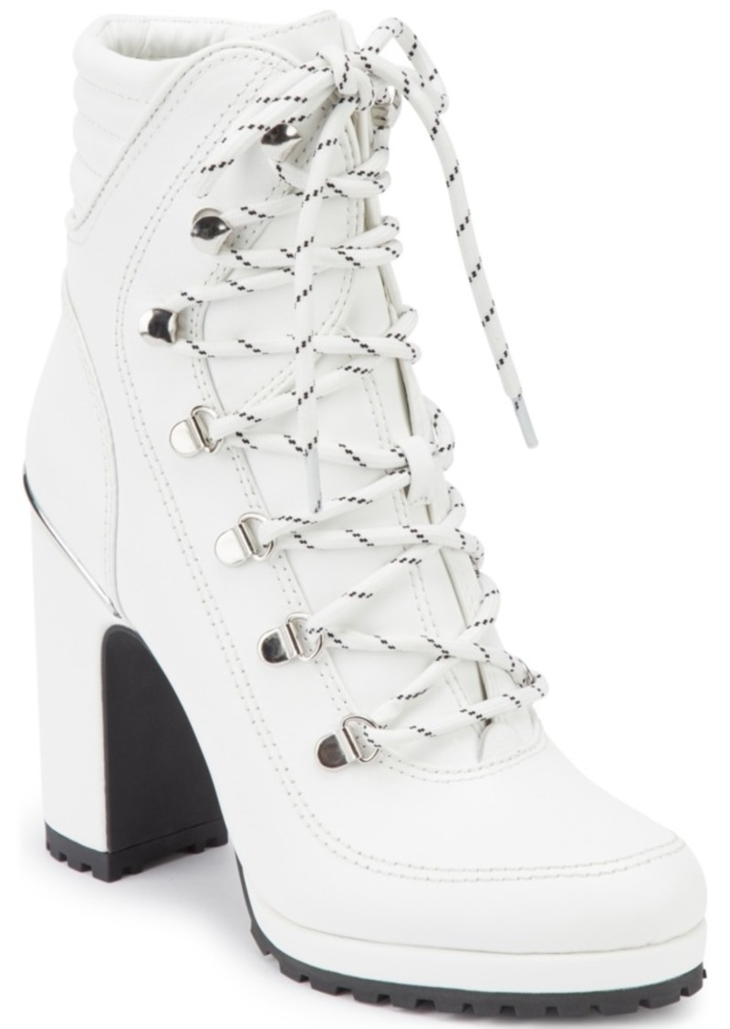 Dkny Women's Lenni Lace-Up Booties, Created For Macy's