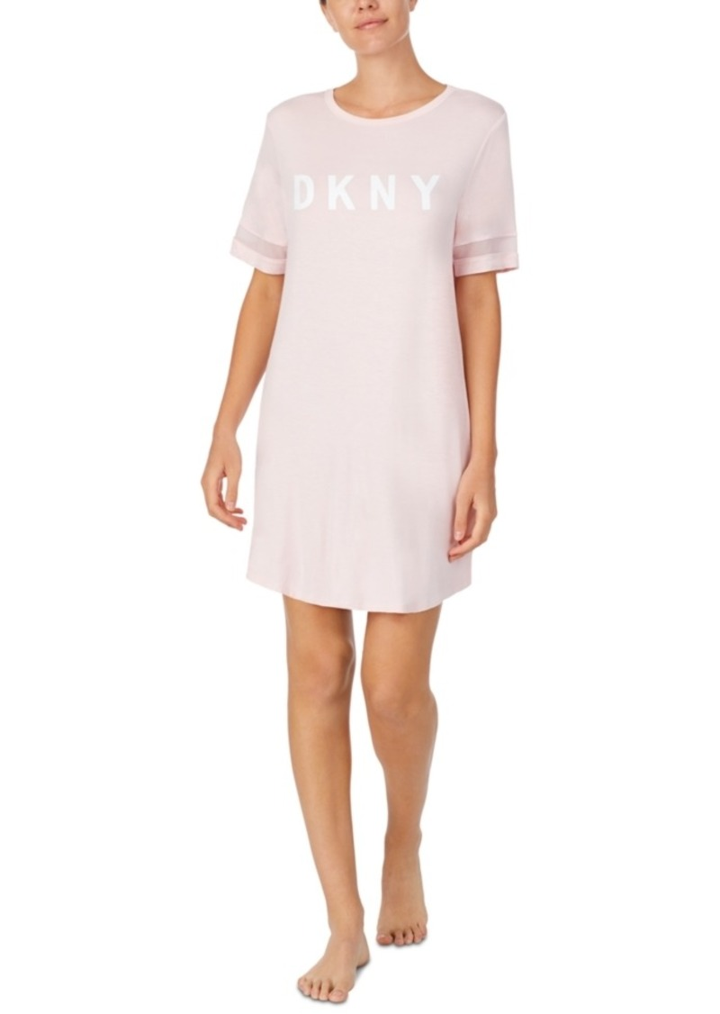 Dkny Women's Logo Sleepshirt Nightgown