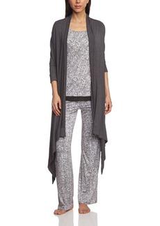 DKNY Women's Long Sleeve Longer Cozy Wrap  L/XL