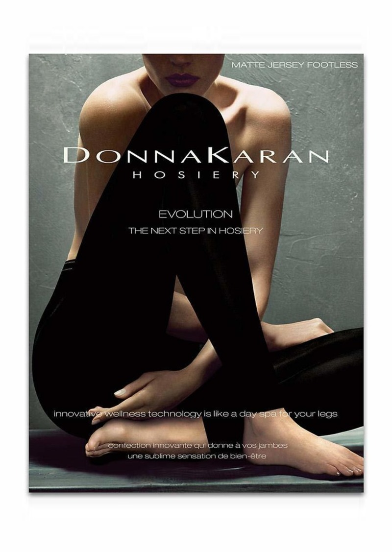 DKNY Women's Matte Jersey Footless Tight black
