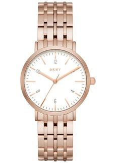 Dkny Women's Minetta Rose Gold-Tone Stainless Steel Bracelet Watch 36mm NY2504