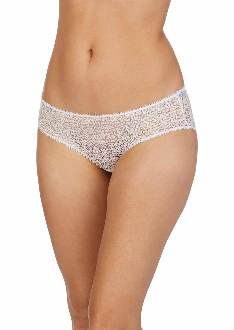 DKNY Women's Modern Lace Hipster Panty poplin White X Large