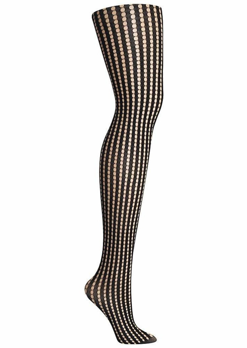 DKNY Women's Net Tight Hosiery black MTL