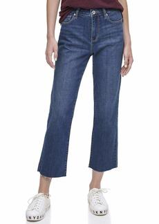DKNY Women's Rivington Slim Straight Crop Jeans