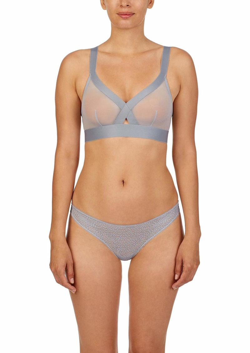 DKNY Women's Sheers Wirefree Softcup Bralette Bra