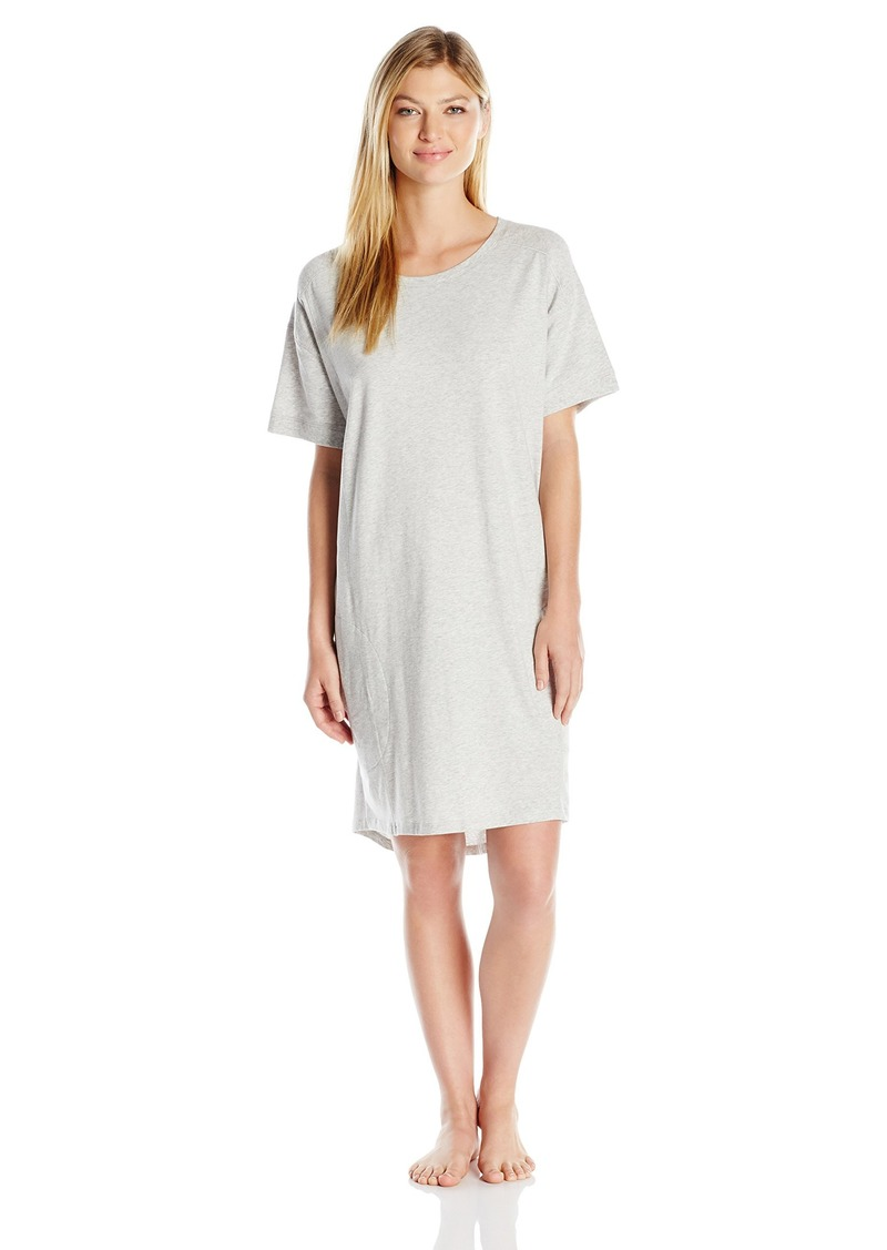 DKNY DKNY Women s Short Sleeve Pima Knit Sleepshirt M  99b58f0f9